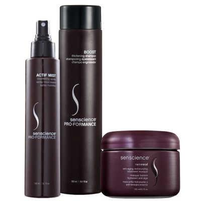 Senscience Hidratação Anti-Age Cabelos Finos Kit (3 Produtos)