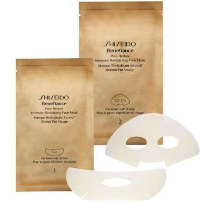Shiseido Benefiance Pure Retinol Intensive Revitalizing Face Mask - Máscara Facial 4 Unidades