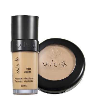Vult Make Up Base Pó 03 Bege Kit (2 Produtos)