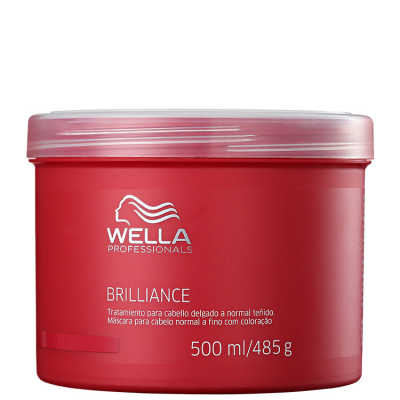 Wella Professionals Brilliance Mask Cabelo Normal a Fino - Máscara de Tratamento 500ml