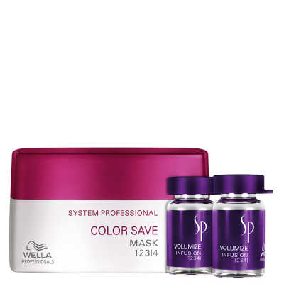 SP System Professional Color Save Volumize Kit (3 Produtos)