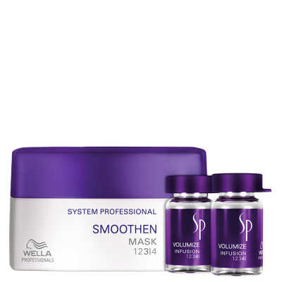 SP System Professional Smoothen Volumize Kit (2 Produtos)