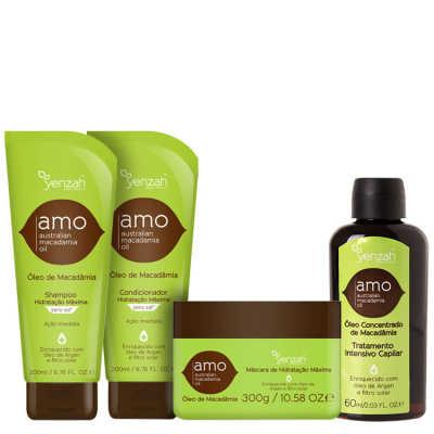 Yenzah Amo Australian Macadamia Oil Full Kit (4 Produtos)