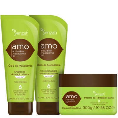 Yenzah Amo Australian Macadamia Oil Trio Kit (3 Produtos)