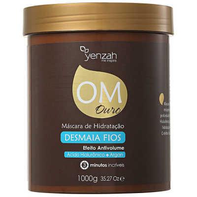 Yenzah OM Ouro Máscara de Hidratação Desmaia Fios - Máscara de Tratamento 1000g
