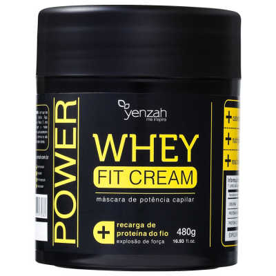 Yenzah Power Whey Fit Cream - Máscara de Tratamento 480g