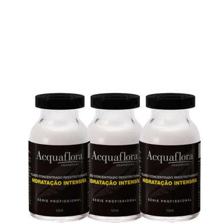 Acquaflora Hidratação Intensiva Tratamento - Ampola de Tratamento 3x12ml