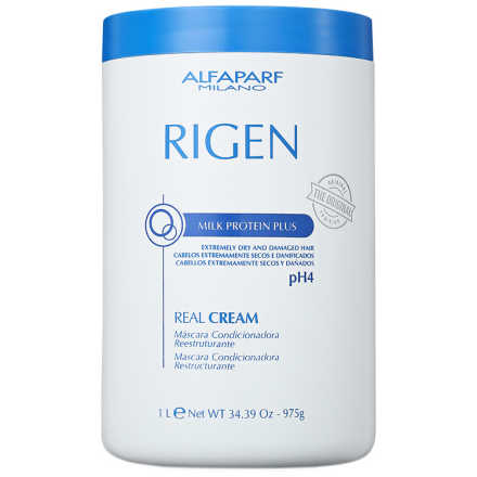 Alfaparf Rigen Milk Protein Plus Real Cream - Máscara de Tratamento 1000ml