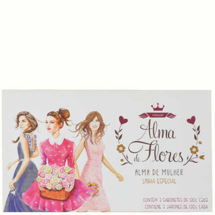 Alma de Flores Alma de Mulher Kit - Sabonetes 3x 130g