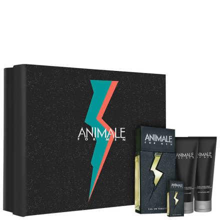 Conjunto Animale for Men Masculino - Eau de Toilette 100ml + Pós-Barba 100ml + Gel de Banho 100ml + Miniatura
