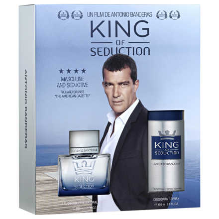Conjunto King of Seduction Antonio Banderas Masculino - Eau de Toilette 100ml + Body Spray 150ml