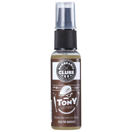 Barbearia Clube Tony Jeitinho n 01 - Óleo Pré-Barbear 30ml