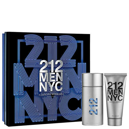 Conjunto Carolina Herrera 212 Men Masculino - Eau de Toilette 100ml + Pós-Barba 100ml