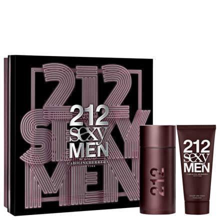 Conjunto Carolina Herrera 212 Sexy Men Masculino - Eau de Toilette  100ml + Pós-Barba 100ml