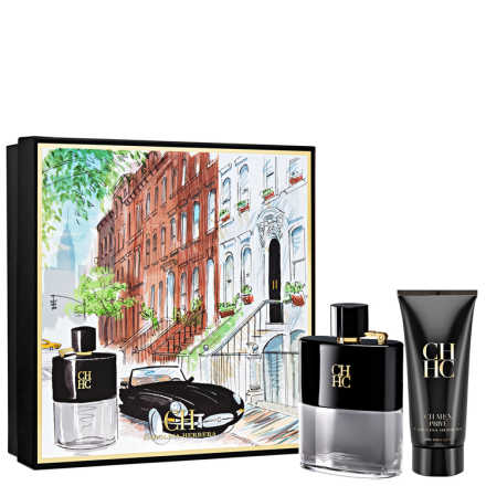 Conjunto Carolina Herrera CH Men Privé Masculino - Eau de Toilette 100ml + Pós-Barba 100ml