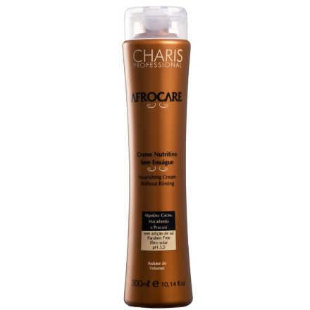 Charis Afrocare Creme Nutritivo Sem Enxague - Leave-In Modelador de Cachos 300ml