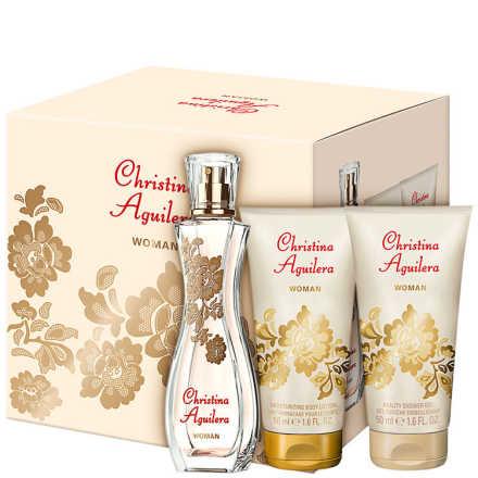 Conjunto Christina Aguilera Woman Feminino - Eau de Parfum 30ml + Gel de Banho 50ml + Loção Corporal 50ml