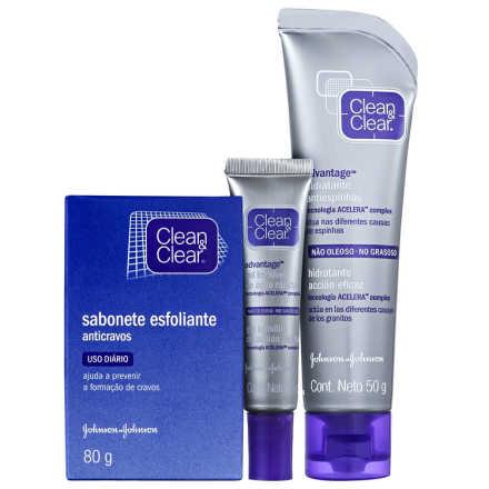 Clean & Clear Rosto Sem Espinhas Kit (3 Produtos)