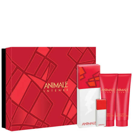 Conjunto Animale Intense For Women Feminino - Eau de Parfum 100ml + Loção 90ml + Shower Gel 90ml + Eau de Parfum 7,5ml