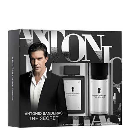 Conjunto The Secret Antonio Banderas Masculino - Eau de Toilette 100ml + Desodorante 150ml