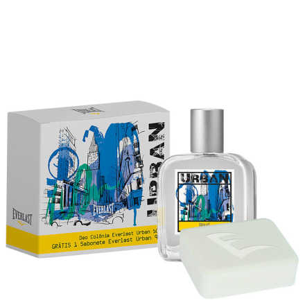 Conjunto Urban Everlast Masculino - Deo Colônia 50ml + Sabonete 90g