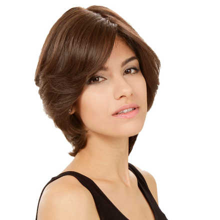 Crown Wigs Amanda Cor Castanho Médio/ Claro/ Louro Escuro - Peruca 25cm