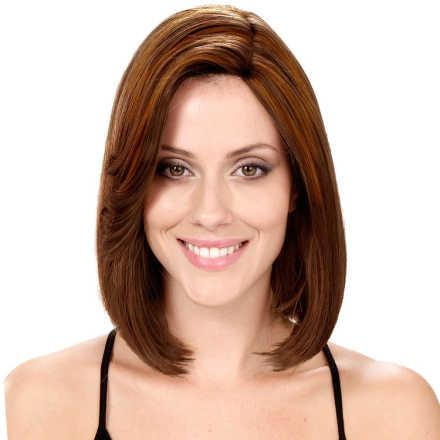 Crown Wigs Bianca Cor Castanho Médio/Claro - Peruca 30cm