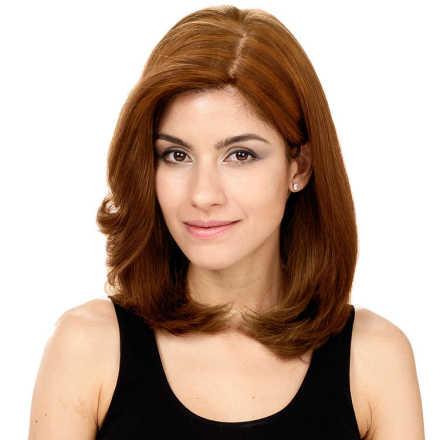 Crown Wigs Carol Cor Castanho Médio/ Claro - Peruca 35cm