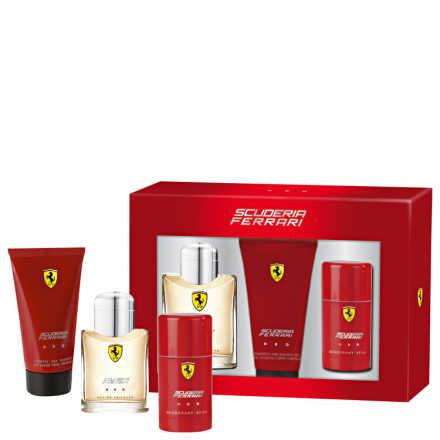 Conjunto Ferrari Scuderia Red Masculino - Eau de Toilette 125ml + Gel de Banho 150ml + Desodorante 75ml