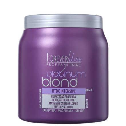 Forever Liss Professional Platinum Blond - Redutor de Volume Matizador 1000g