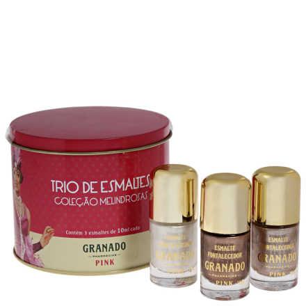 Granado Pink Trio Melindrosas Edição Limitada - Kit de Esmaltes
