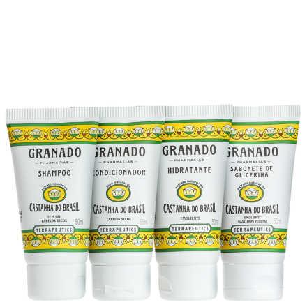 Granado Terrapeutics Kit Amenities Castanha do Brasil - 4x 50ml