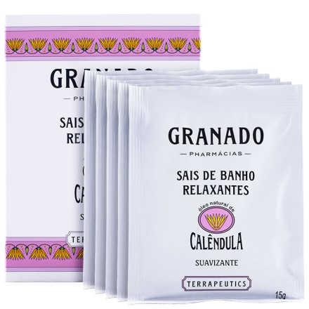 Granado Terrapeutics Relaxantes Calêndula - Sais de Banho 5x15g