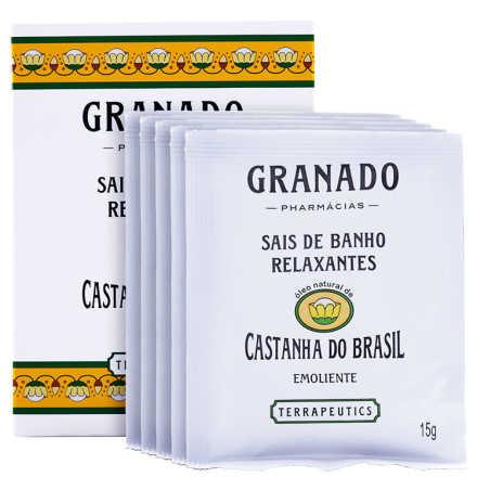 Granado Terrapeutics Relaxantes Castanha do Brasil - Sais de Banho 5x15g
