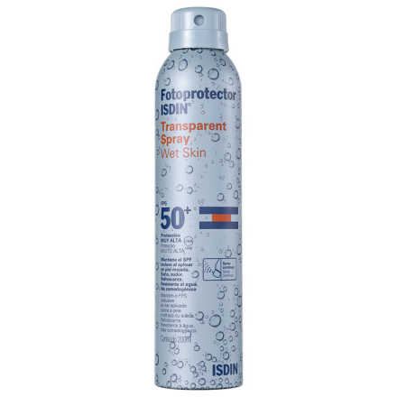 ISDIN Fotoprotector Transparent Spray Wet Skin FPS 50 - Protetor Solar 200ml