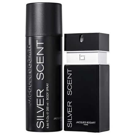 Conjunto Silver Scent Jacques Bogart Masculino - Eau de Toilette 100ml + Body Spray 200ml