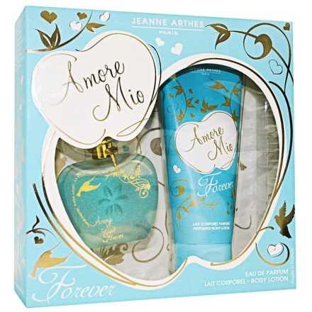 Conjunto Amore Mio Forever Jeanne Arthes Feminino - Eau de Parfum 100ml + Leite Corporal 200ml