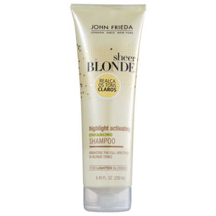 John Frieda Sheer Blonde Highlight Activating Enhancing Shampoo Lighter Shades - 250ml