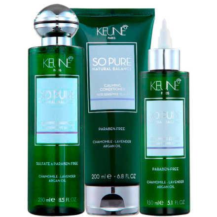 Keune So Pure Calming Elixir Kit (3 Produtos)