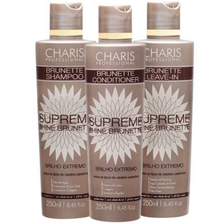 Kit de Tratamento Charis Supreme Shine Brunette (3 Produtos)