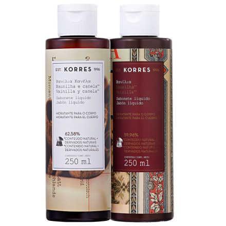 Korres Baunilha e Canela Vanilla Dream - Kit de Sabonetes Líquidos 2x250ml