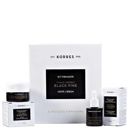 Korres Black Pine Firmador Noite Kit (2 Produtos)