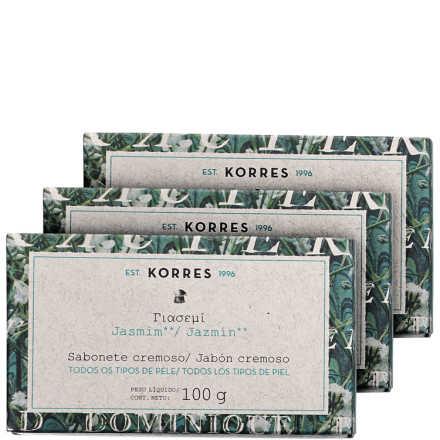 Korres Jasmim - Kit de Sabonetes em Barra 3x100g