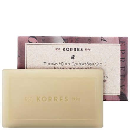 Korres Rosa Japonesa - Sabonete Cremoso em Barra 100g