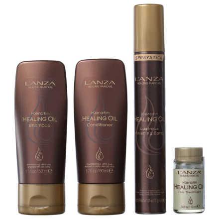 L'Anza Healing Oil Cosmetic Bag Kit (4 Produtos)