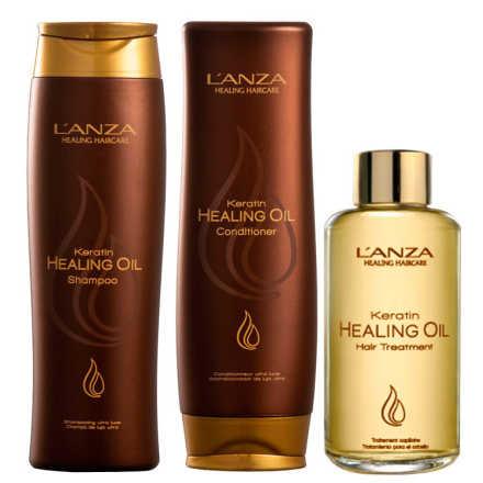 L'Anza Keratin Healing Oil Treatment Kit (3 Produtos)