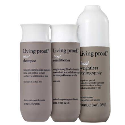 Living Proof No Frizz Weightless Mini Kit (3 Produtos)