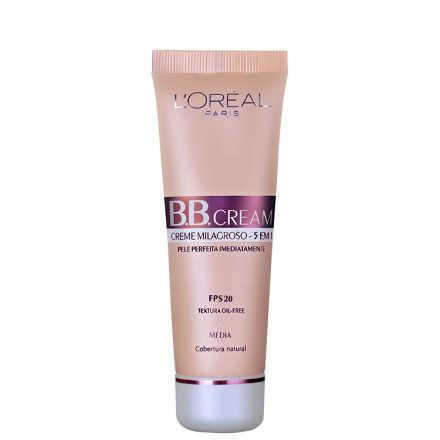 L'Oréal Paris Creme 5 em 1 FPS 20 Médio – BB Cream 50ml