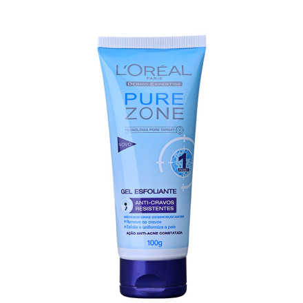 L'Oréal Paris Dermo-Expertise Pure Zone Anti-Cravos Resistentes – Gel Esfoliante 100g