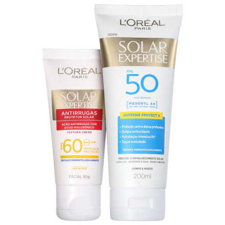 L'Oréal Paris Solar Expertise Facial FPS 60 e Corporal FPS 50 Kit (2 Produtos) - Protetor Solar